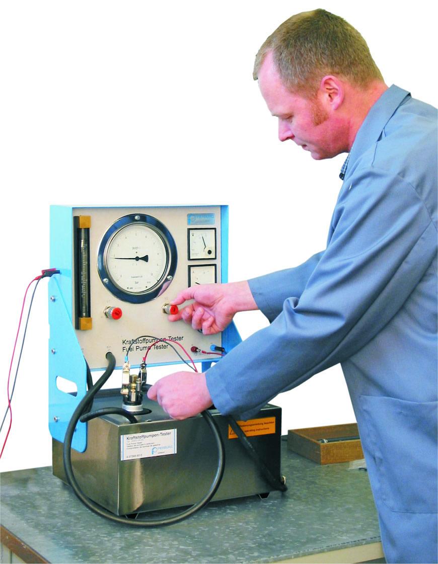 EQP-110 Pierburg Fuel Pump Bench Tester Demo