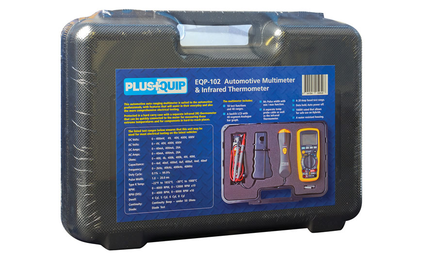 EQP-102 automotive multimeter infrared thermometer