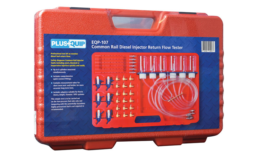 EQP-107 common rail diesel injector return flow tester