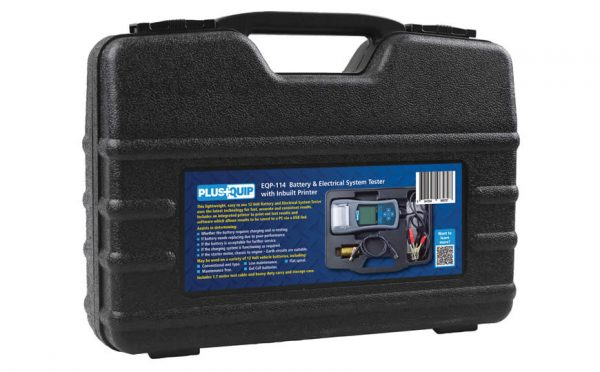 eqp-114 battery and electrical system tester with printer